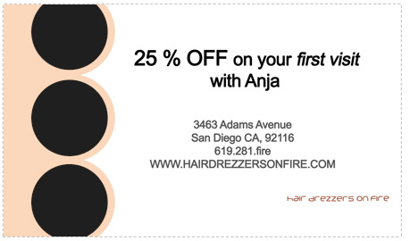 Coupon for Anja on Hairdressers.com
